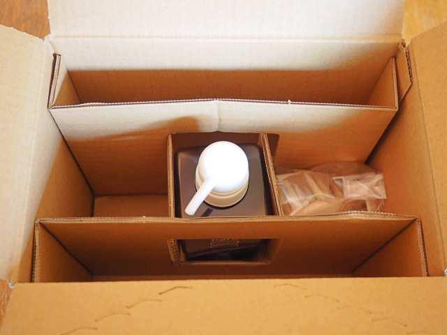 箱を開けた状態の画像